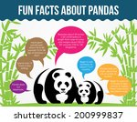 fun facts about pandas. flat... | Shutterstock .eps vector #200999837