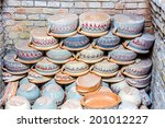 various colorful clay pots on... | Shutterstock . vector #201012227