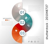 abstract business info graphics ... | Shutterstock .eps vector #201048737