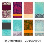 collection of colorful floral... | Shutterstock . vector #201064907