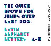 geometric shapes alphabet... | Shutterstock .eps vector #201069107
