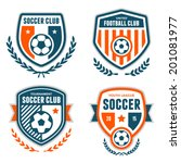 set of soccer football crests... | Shutterstock .eps vector #201081977