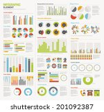 infographic elements big set | Shutterstock .eps vector #201092387