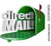 direct mail words in 3d letters ... | Shutterstock . vector #201093803