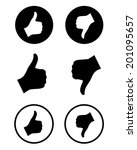 vector 'thumbs up' and 'thumbs... | Shutterstock .eps vector #201095657