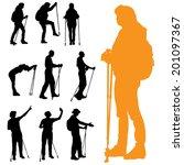 vector silhouette of people... | Shutterstock .eps vector #201097367