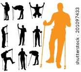 vector silhouette of people... | Shutterstock .eps vector #201097433