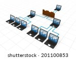 computer network and internet... | Shutterstock . vector #201100853