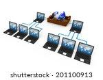 computer network and internet... | Shutterstock . vector #201100913