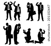 vector silhouettes of business... | Shutterstock .eps vector #201102647