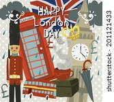 happy london day greeting card. ...