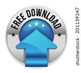 blue round free download button ...