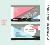 geometric vector business card...
