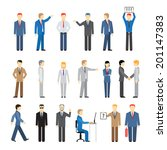 business peoples in different... | Shutterstock . vector #201147383