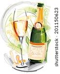 sylvester champagner | Shutterstock .eps vector #201150623