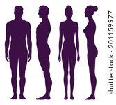 collection of silhouettes of... | Shutterstock .eps vector #201159977
