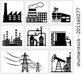 industry icons black vector... | Shutterstock .eps vector #201160277