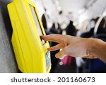 ticket punch in the bus | Shutterstock . vector #201160673