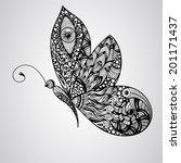vector black butterfly  tettoo...   Shutterstock .eps vector #201171437