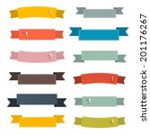retro ribbons set illustration... | Shutterstock .eps vector #201176267