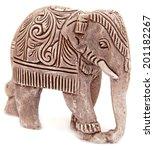 Elephant Figurine Isolated On...