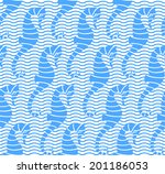 seamless sea pattern. vector... | Shutterstock .eps vector #201186053
