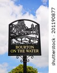 Bourton On The Water Town Sign...