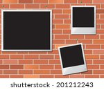 brick wall showing empty space... | Shutterstock . vector #201212243