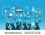 business people group over...   Shutterstock .eps vector #201217133