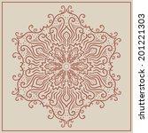 vintage ornament can be used as ... | Shutterstock .eps vector #201221303
