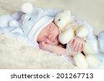 a portrait of a cute newborn... | Shutterstock . vector #201267713