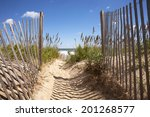 Entrance To The Beach Over San...