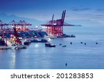 container terminal | Shutterstock . vector #201283853