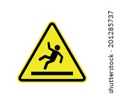 slippery floor sign | Shutterstock .eps vector #201285737
