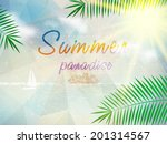 abstract seaside view poster... | Shutterstock .eps vector #201314567