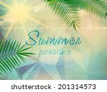 abstract seaside view poster... | Shutterstock .eps vector #201314573