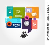 speech bubble jigsaw puzzle... | Shutterstock .eps vector #201315377