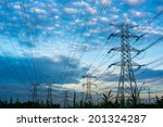 electricity pylons and cable... | Shutterstock . vector #201324287