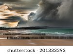 Storm Approaching The Coast Of...