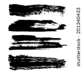 set of grunge brush strokes.... | Shutterstock . vector #201340433