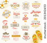 vector set of summer holidays ... | Shutterstock .eps vector #201342653