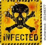 computer virus alert  grungy... | Shutterstock .eps vector #201348377