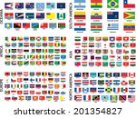 alphabetical country flags by... | Shutterstock .eps vector #201354827