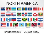 alphabetical country flags for... | Shutterstock .eps vector #201354857