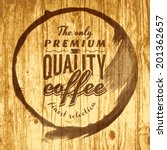 coffee label for cafe in blotch ...   Shutterstock .eps vector #201362657