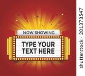 now showing retro cinema neon... | Shutterstock .eps vector #201373547