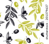 seamless vector pattern with... | Shutterstock .eps vector #201379637