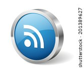 blue round feed button with...   Shutterstock .eps vector #201389627