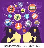 icons education. silhouette of... | Shutterstock .eps vector #201397163