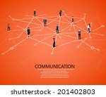 connecting people. social... | Shutterstock .eps vector #201402803